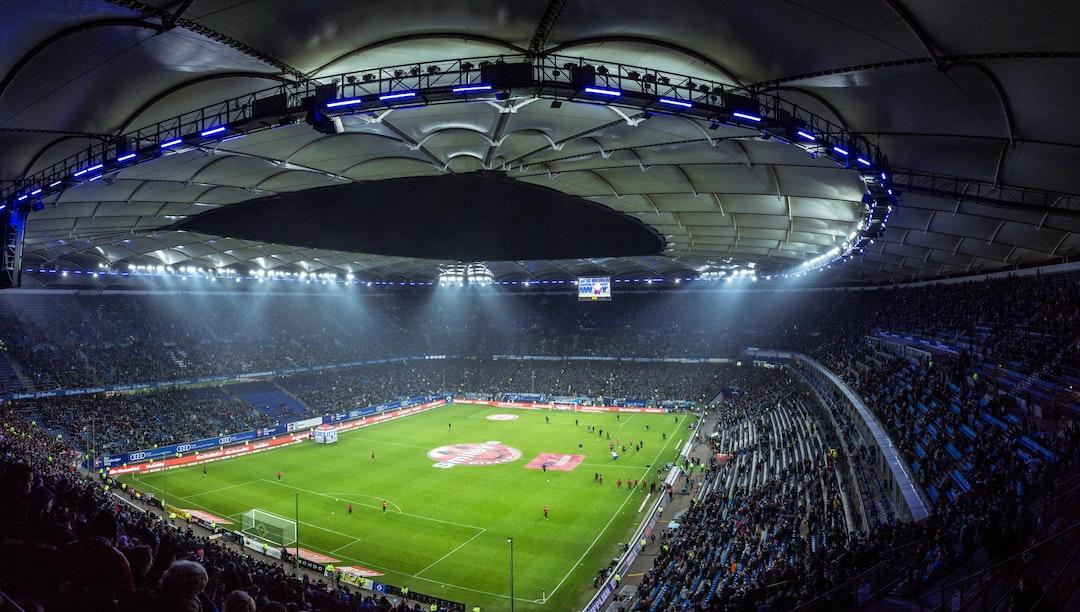 Well lit soccer stadium