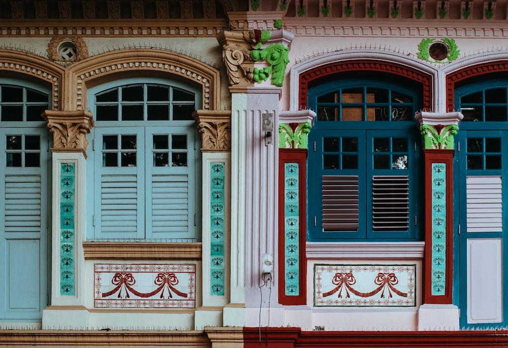 closed windows of house