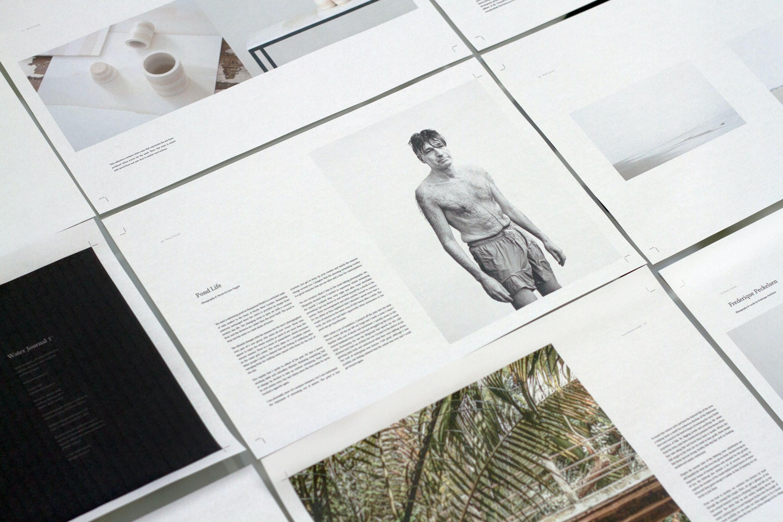 man's photo-printed paper
