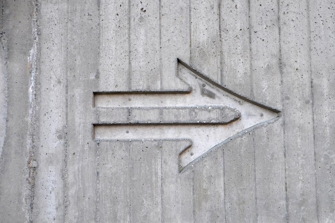 Concrete arrow