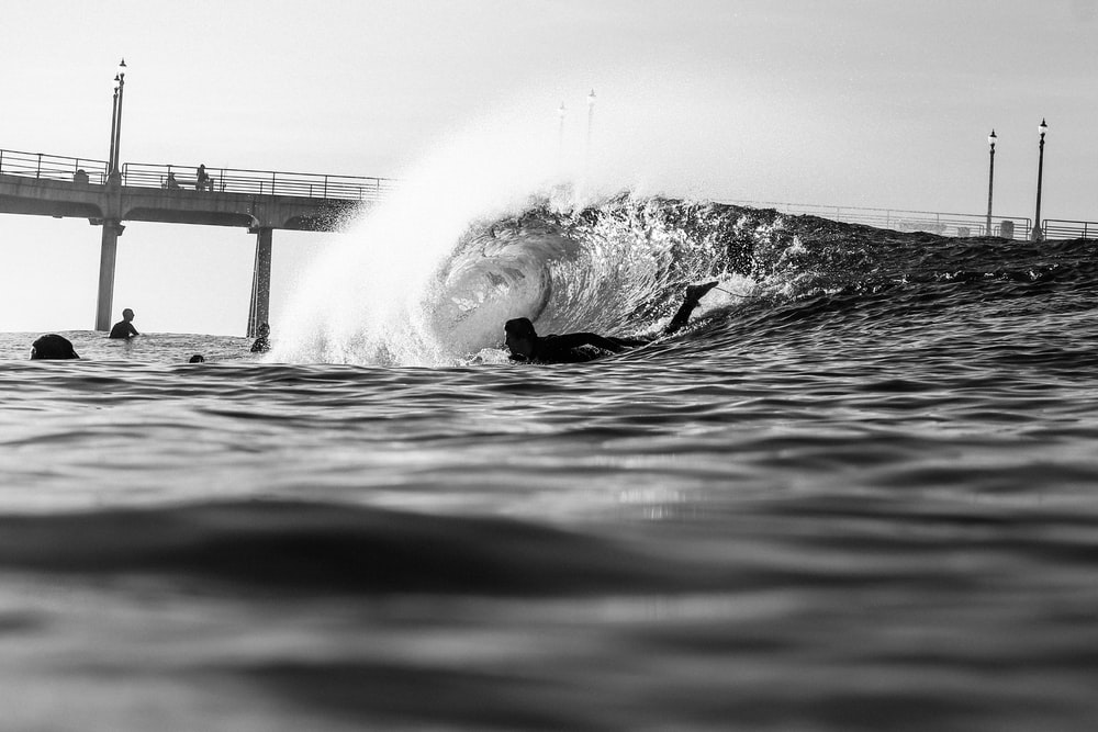 person surfing photography