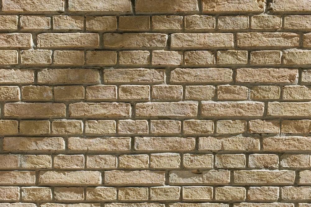 brown cinder brick wall