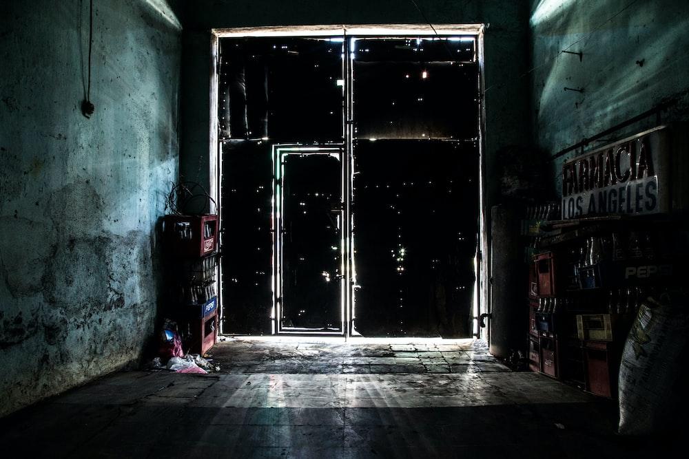 photo of brown wooden door