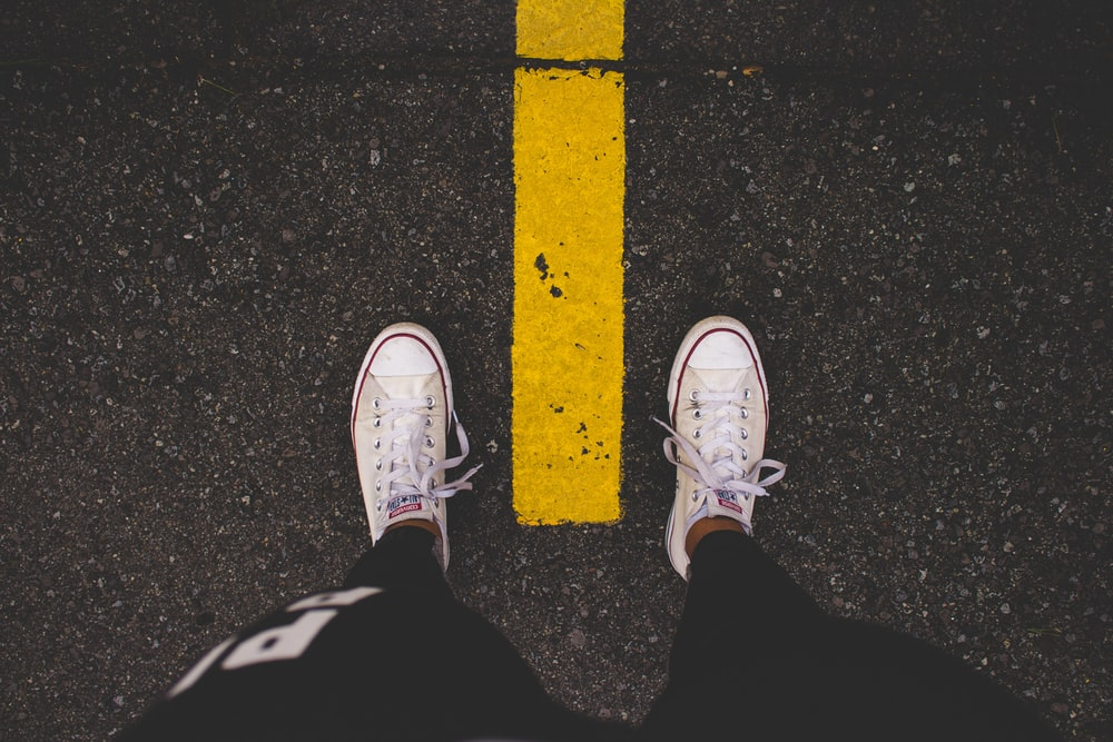 white Converse All-Star low-tops