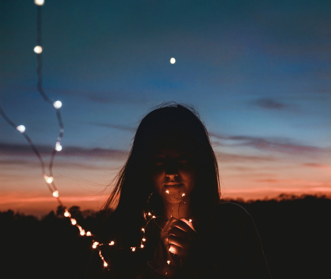 Girl With Fairy Lights Pictures Download Free Images On