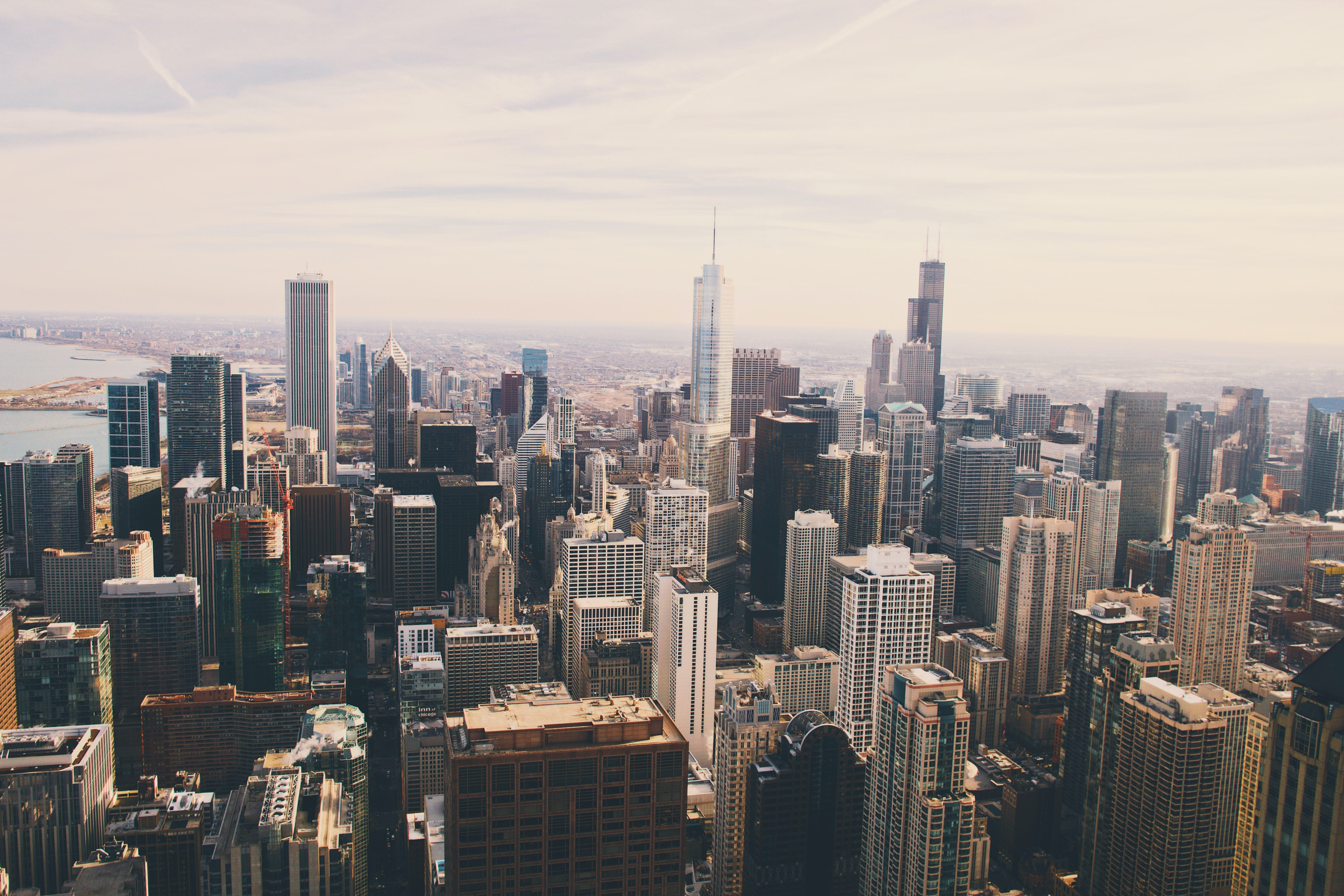 Skyscrapers in the skyline of Chicago