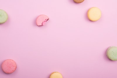 pile of french macaroons flat zoom background