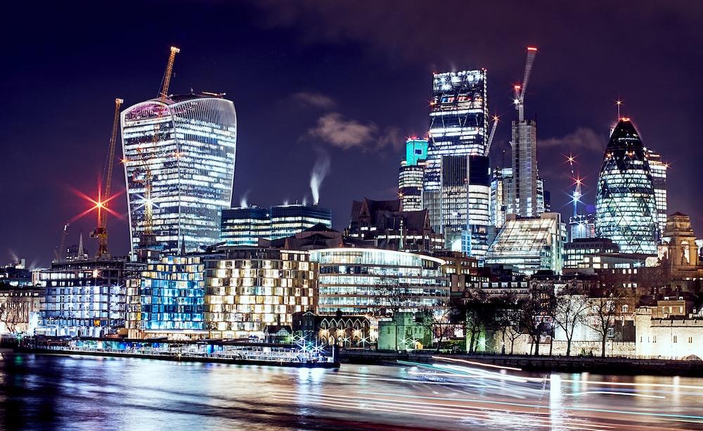 photo of city lights