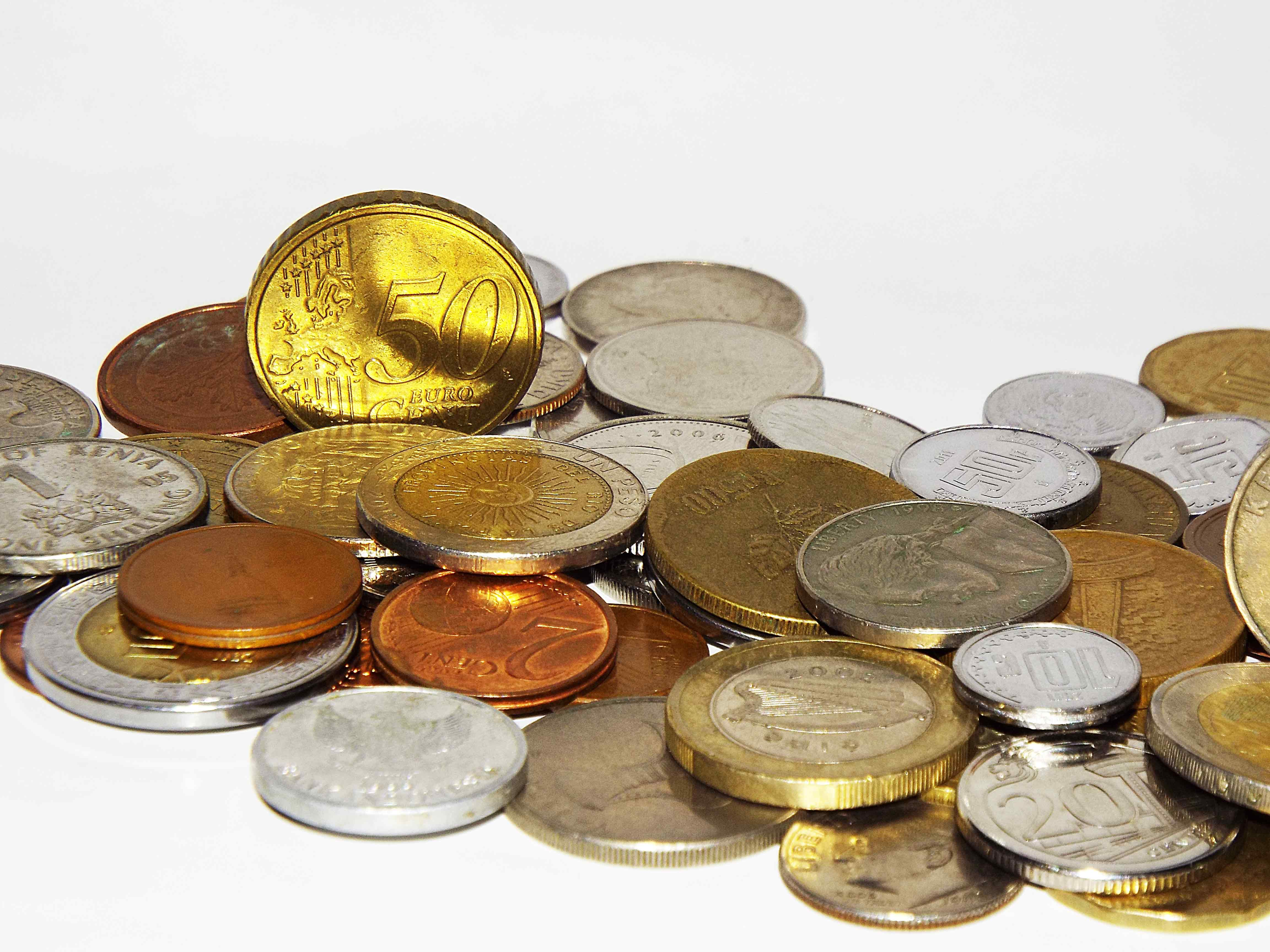 A pile of coins.