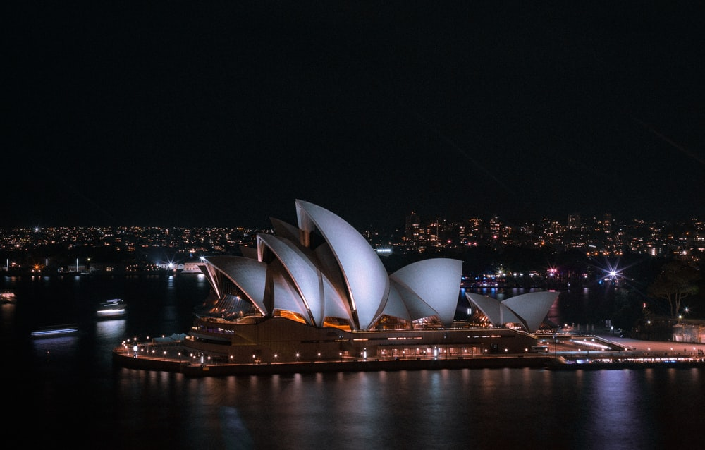 Sydney Opera House during night time