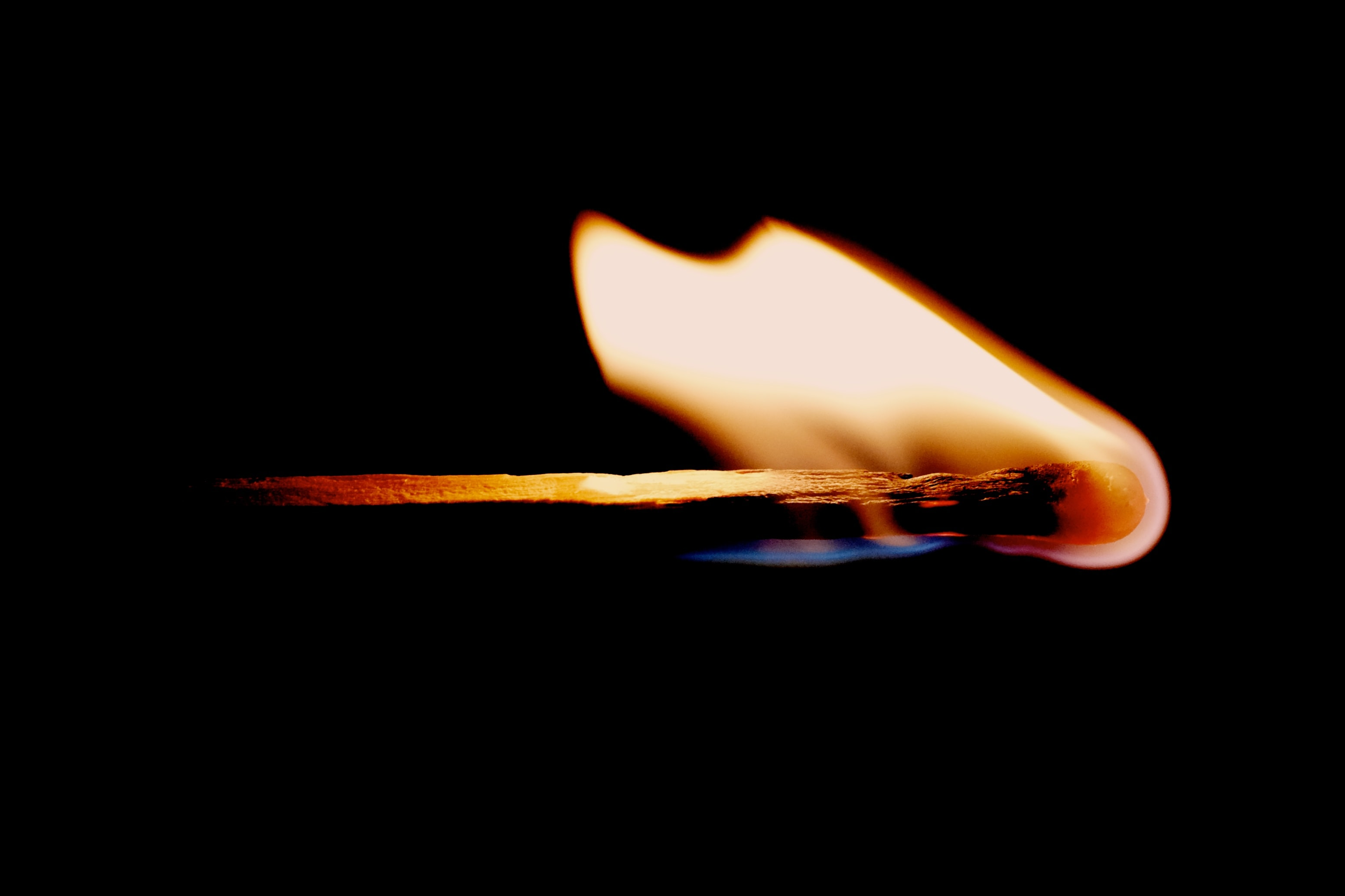 Close-up of a match on fire