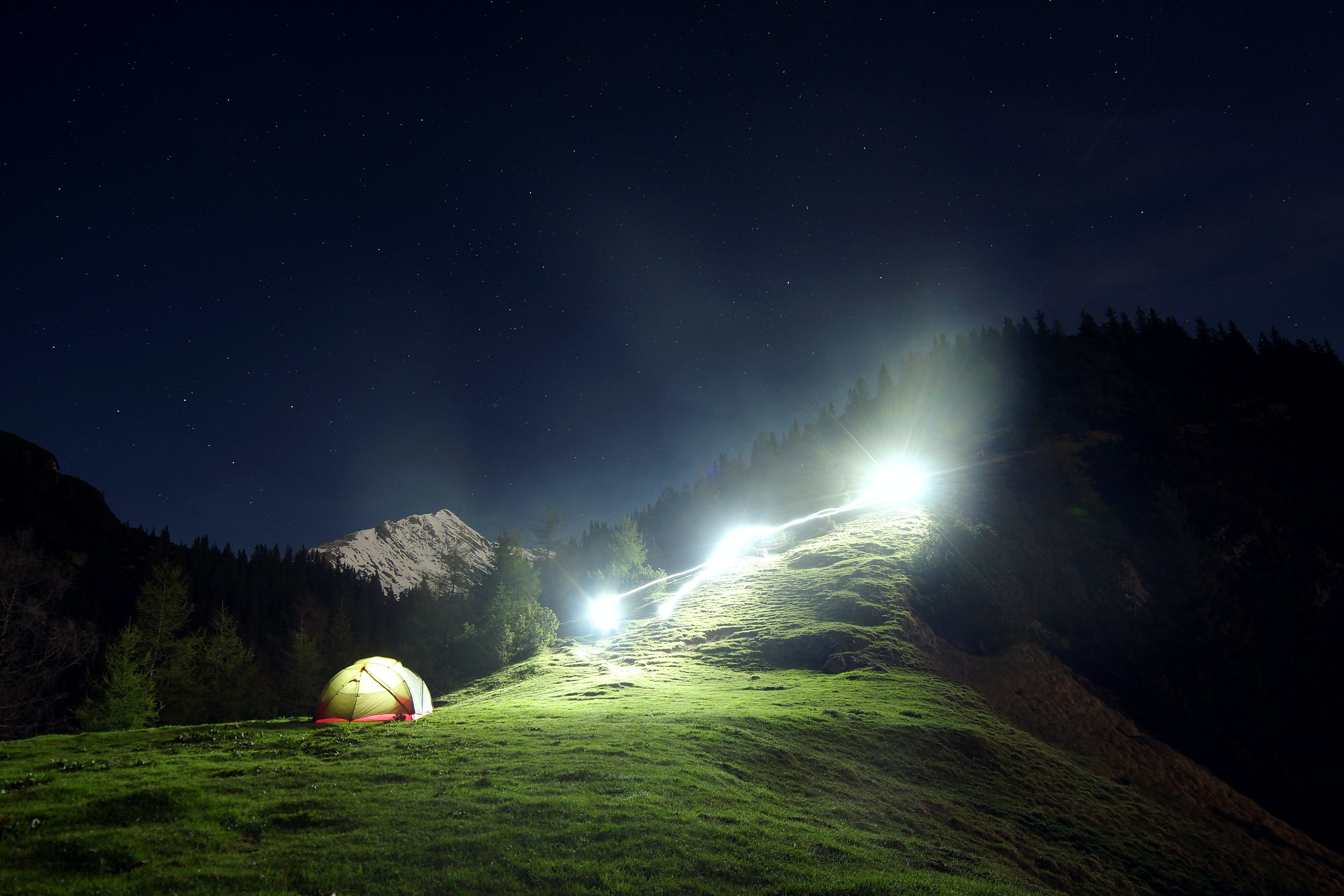 camping tent on mountain