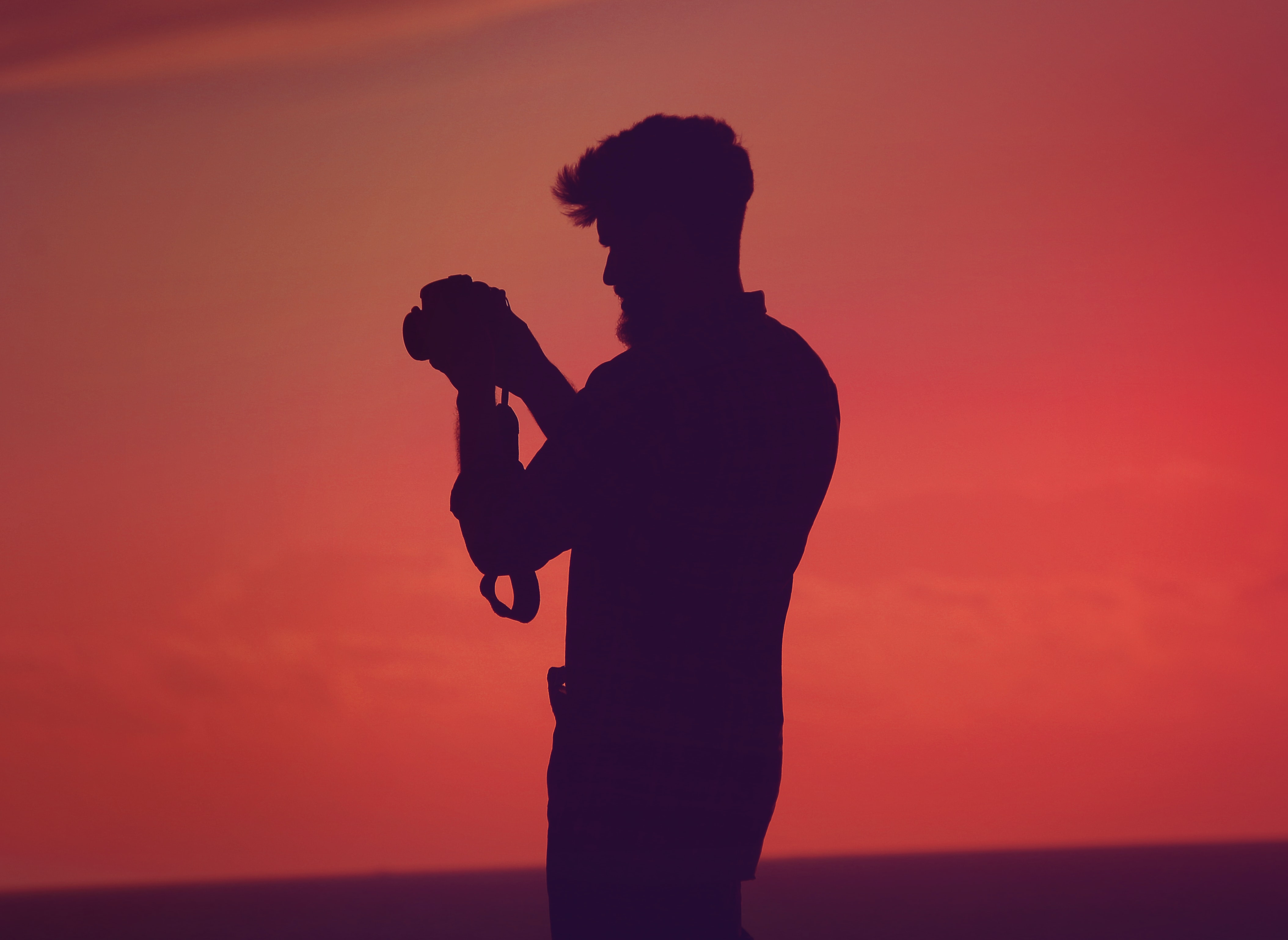 silhouette of man talking picture