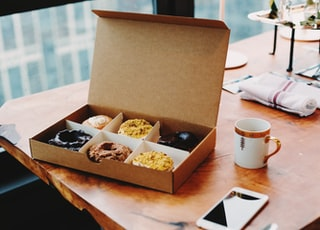 box of Cream donuts
