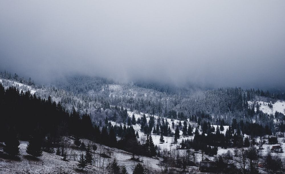 landscape photography of mountain covered snow