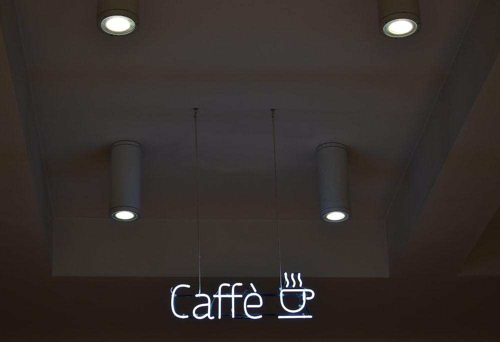 turned on caffe lights