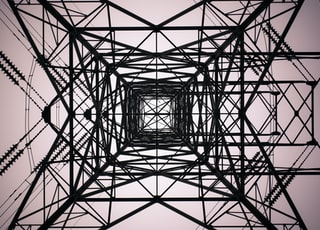 black electrical tower