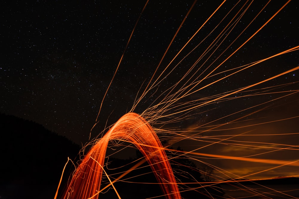 long exposure photography of lights