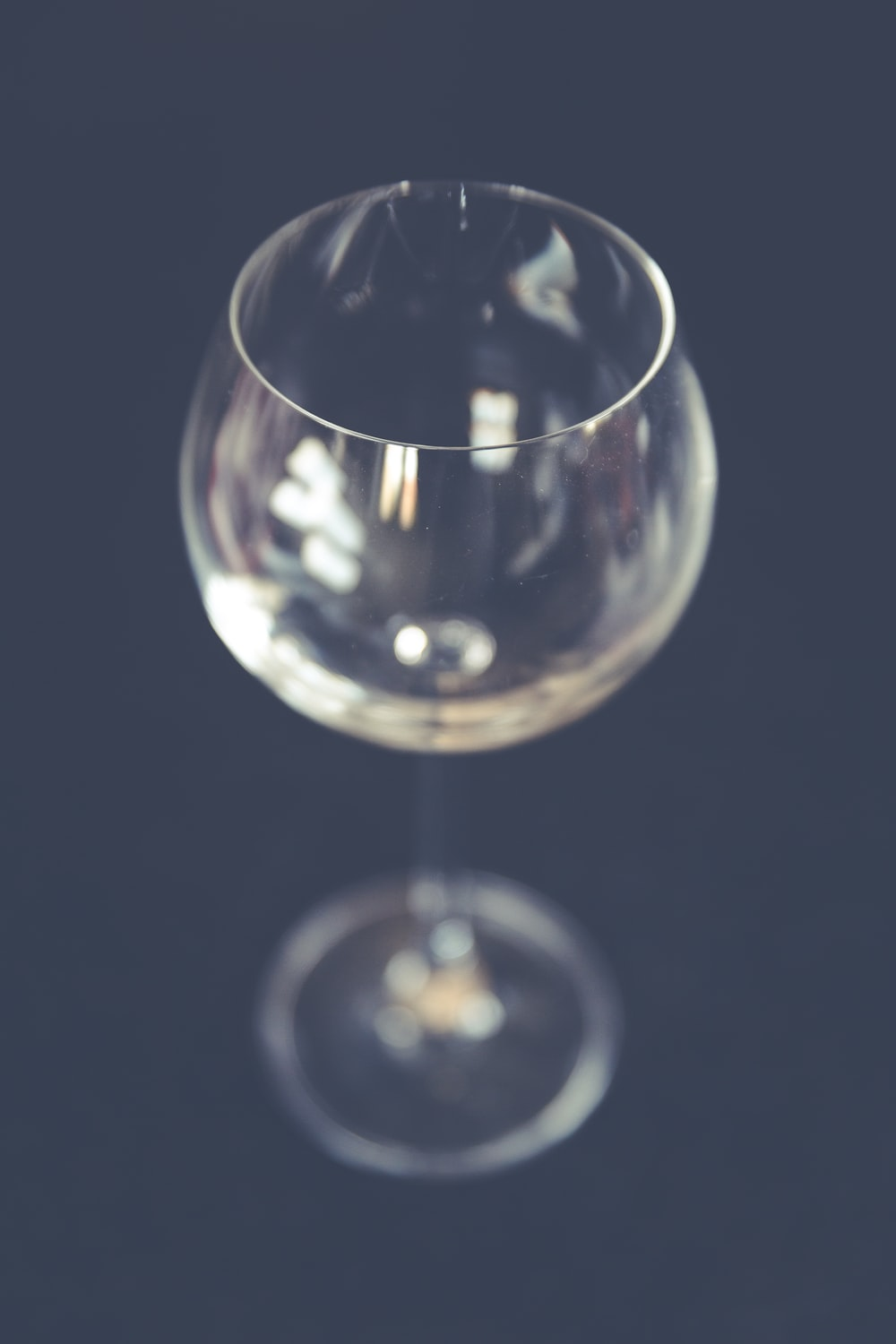 clear long-stemmed wine glass