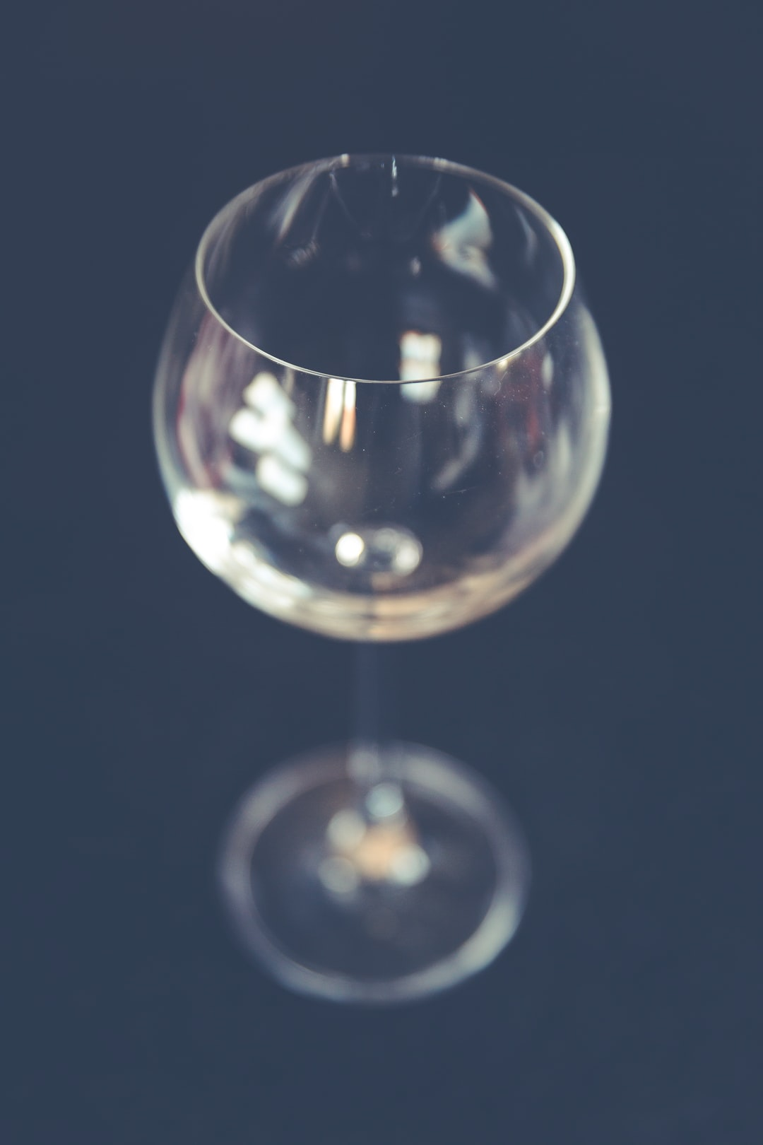 Wine glass from up close