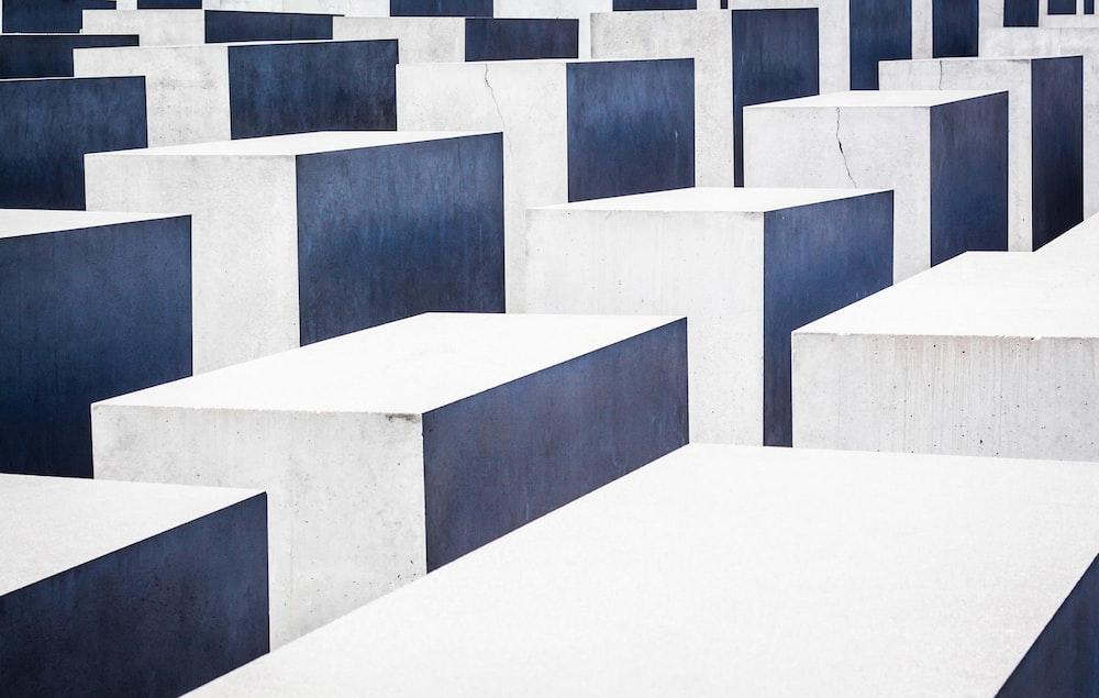 white concrete pavements