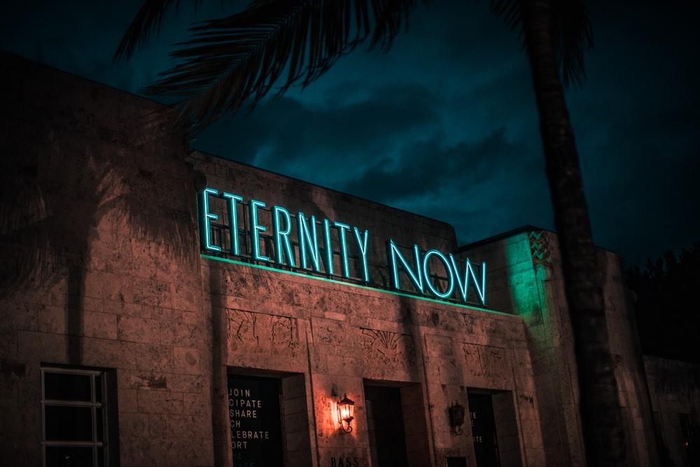Eternity Now neon light sign