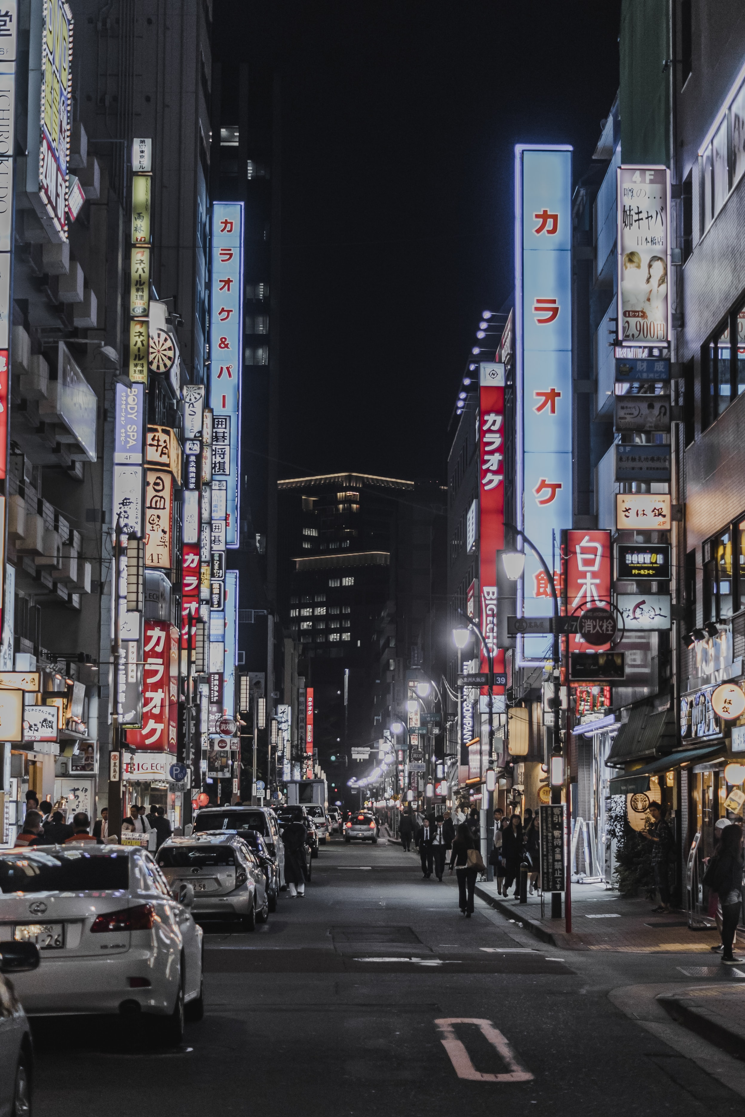 Bright neons and advertisements in the streets of Shibuya, Tokyo