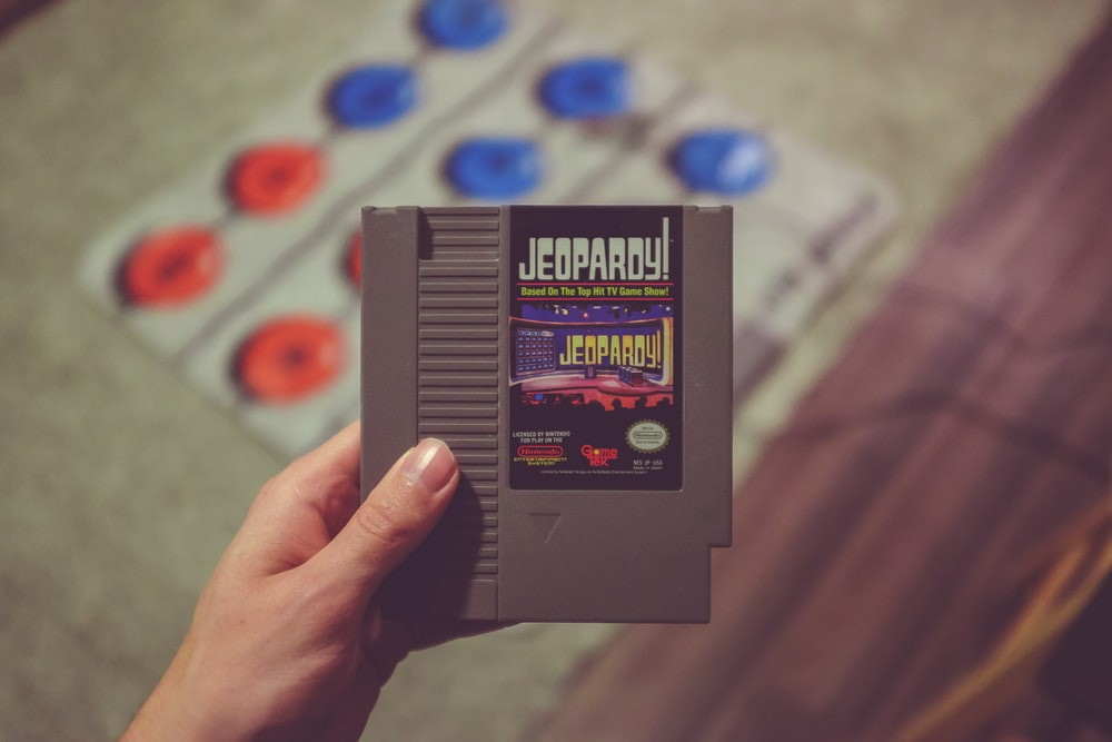Nintendo Jeopardy game cartridge