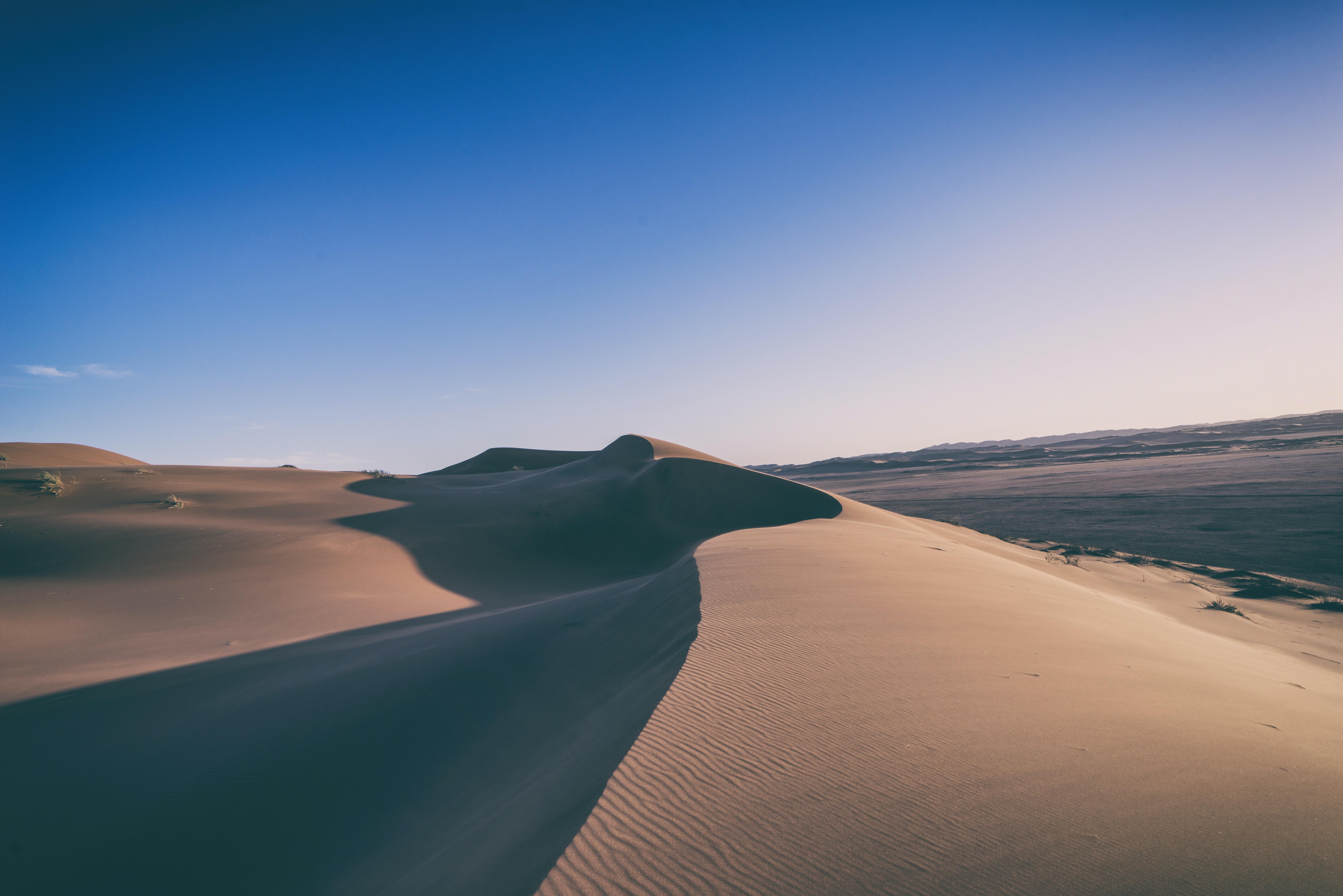 Ridge of a rippled sand ridge in the desert of Gobabeb