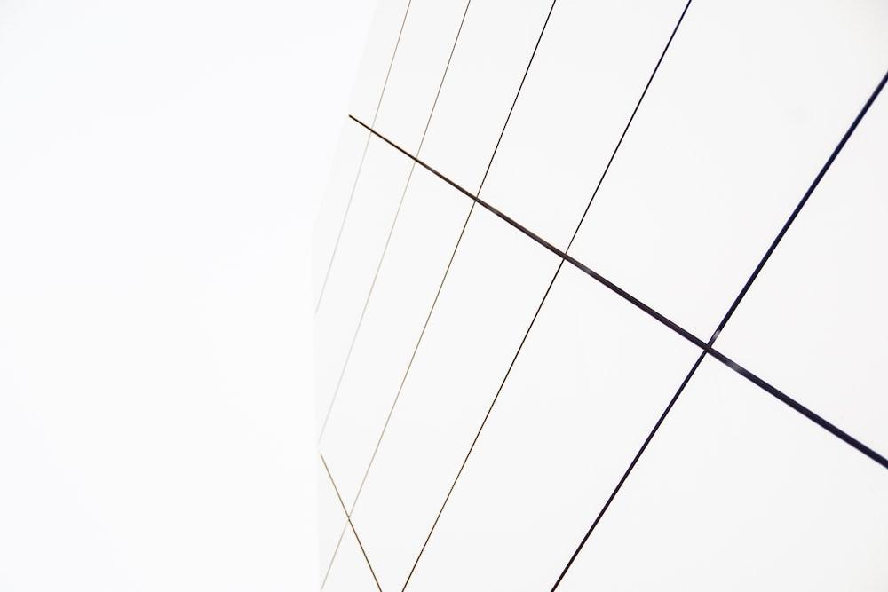 rectangular white panel 3D wallpaper