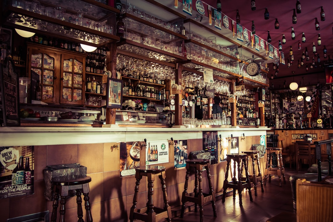 Small pub in Madrid, Spain, it felt really quaint and welcoming. I loved the atmosphere.