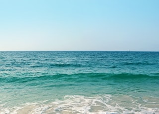seashore under clear blue sky during daytime