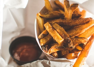 selective focus photo of french fries