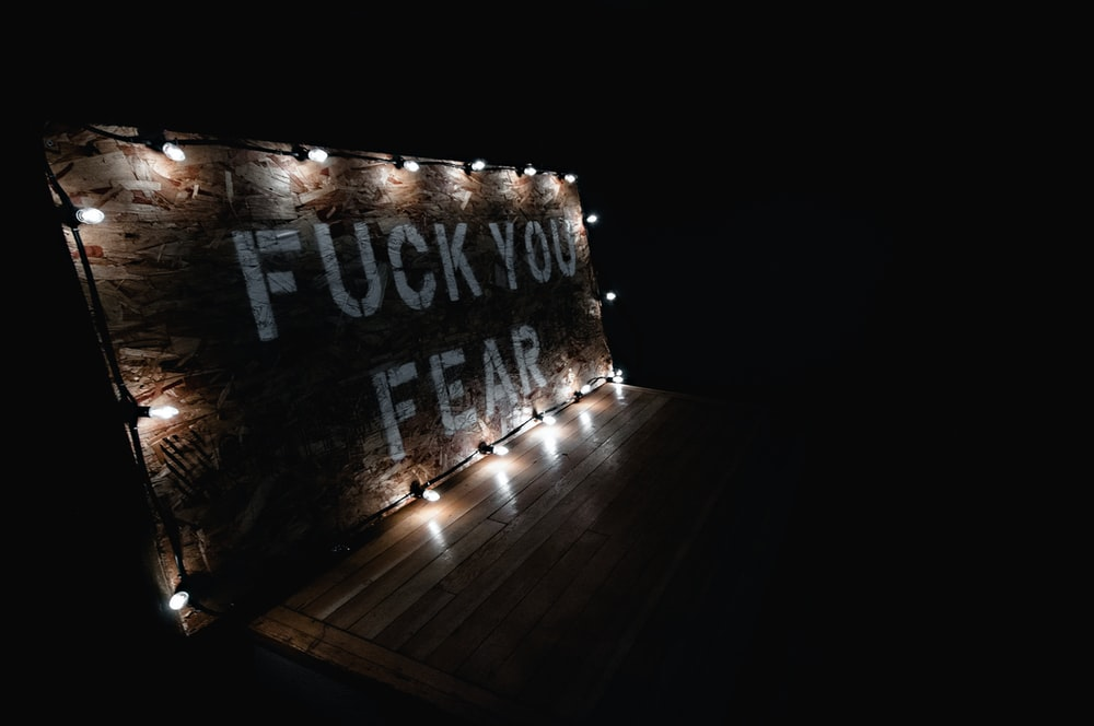 lighted wooden signage