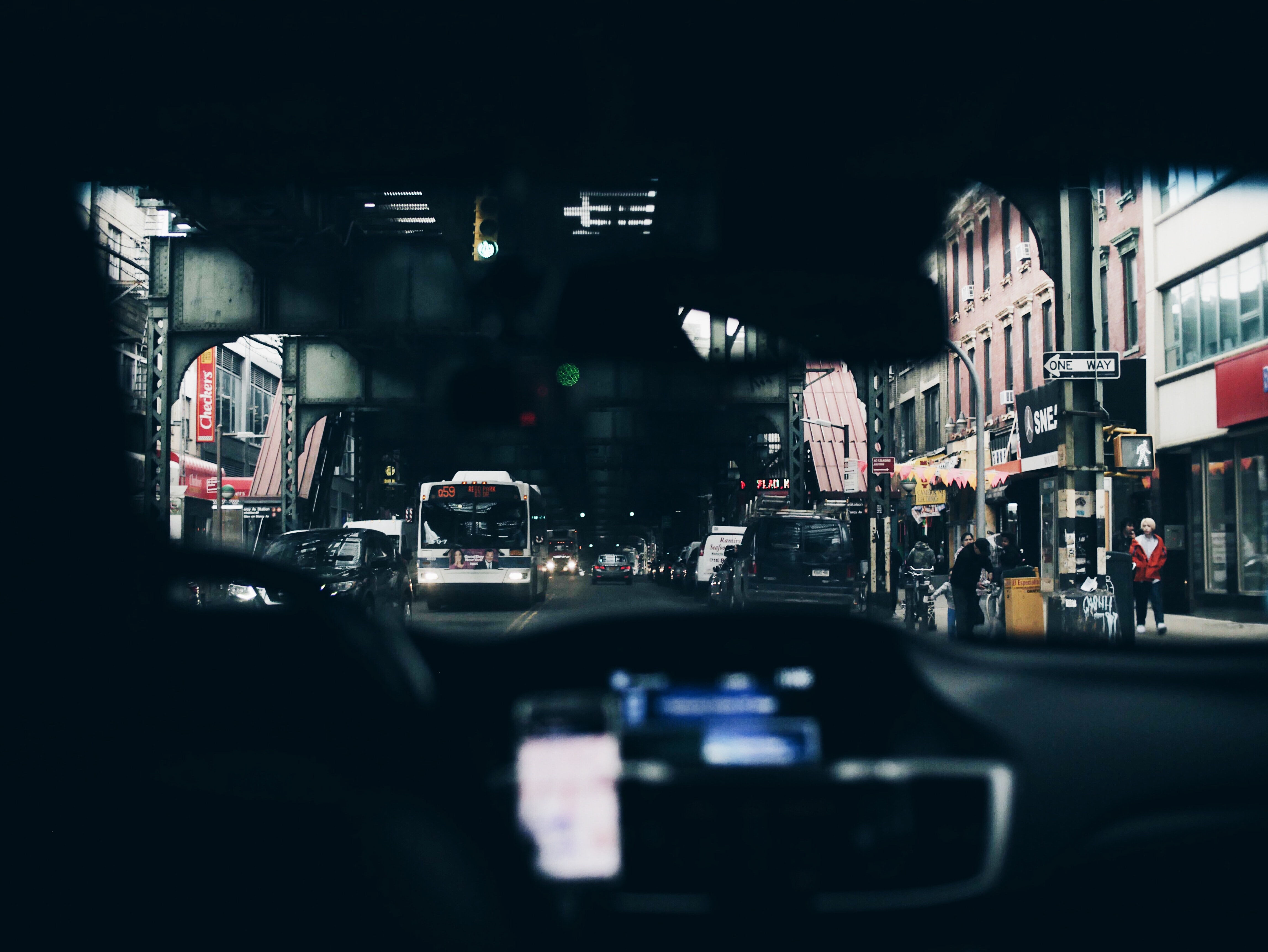 man inside car driving