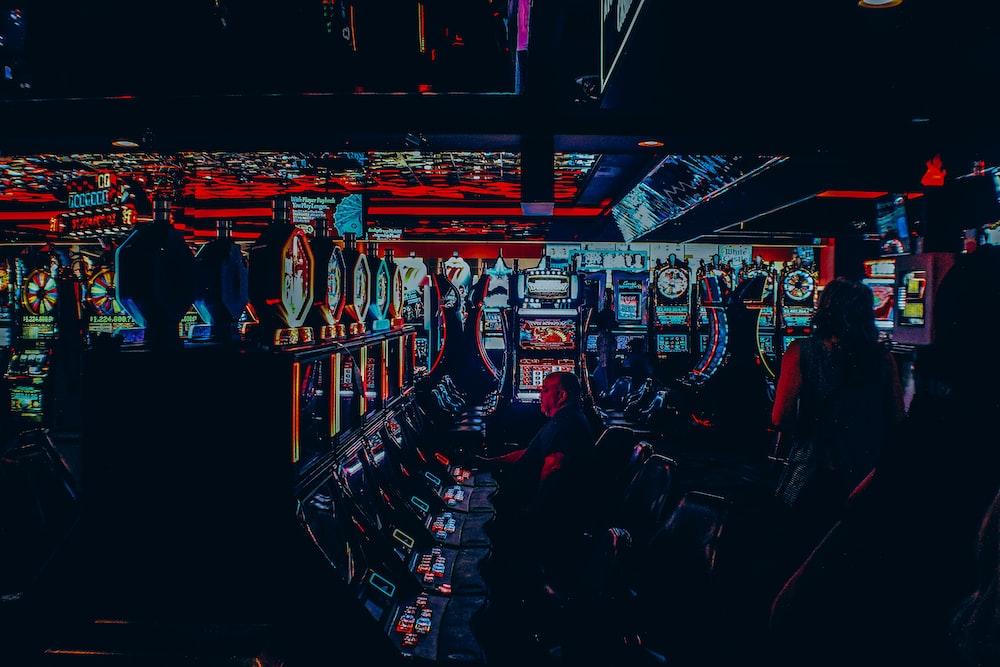 multicolored casino interior