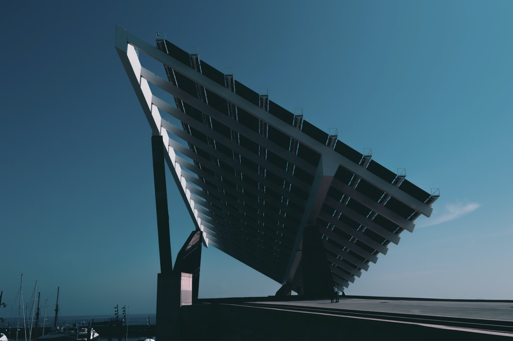 black and silver solar panel