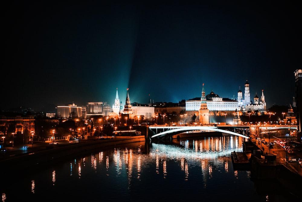reflection of city lights