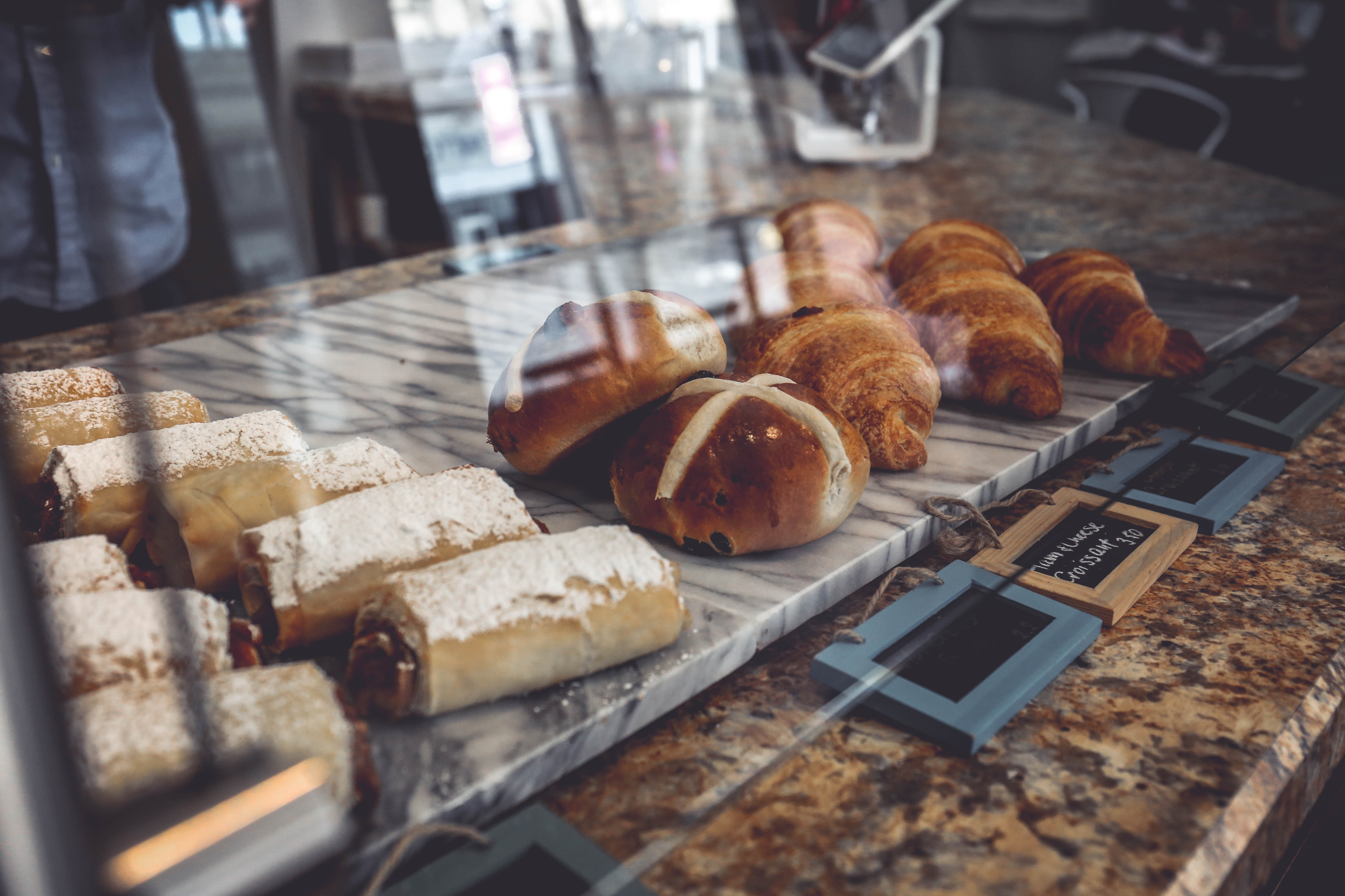 pastry lot in display counter
