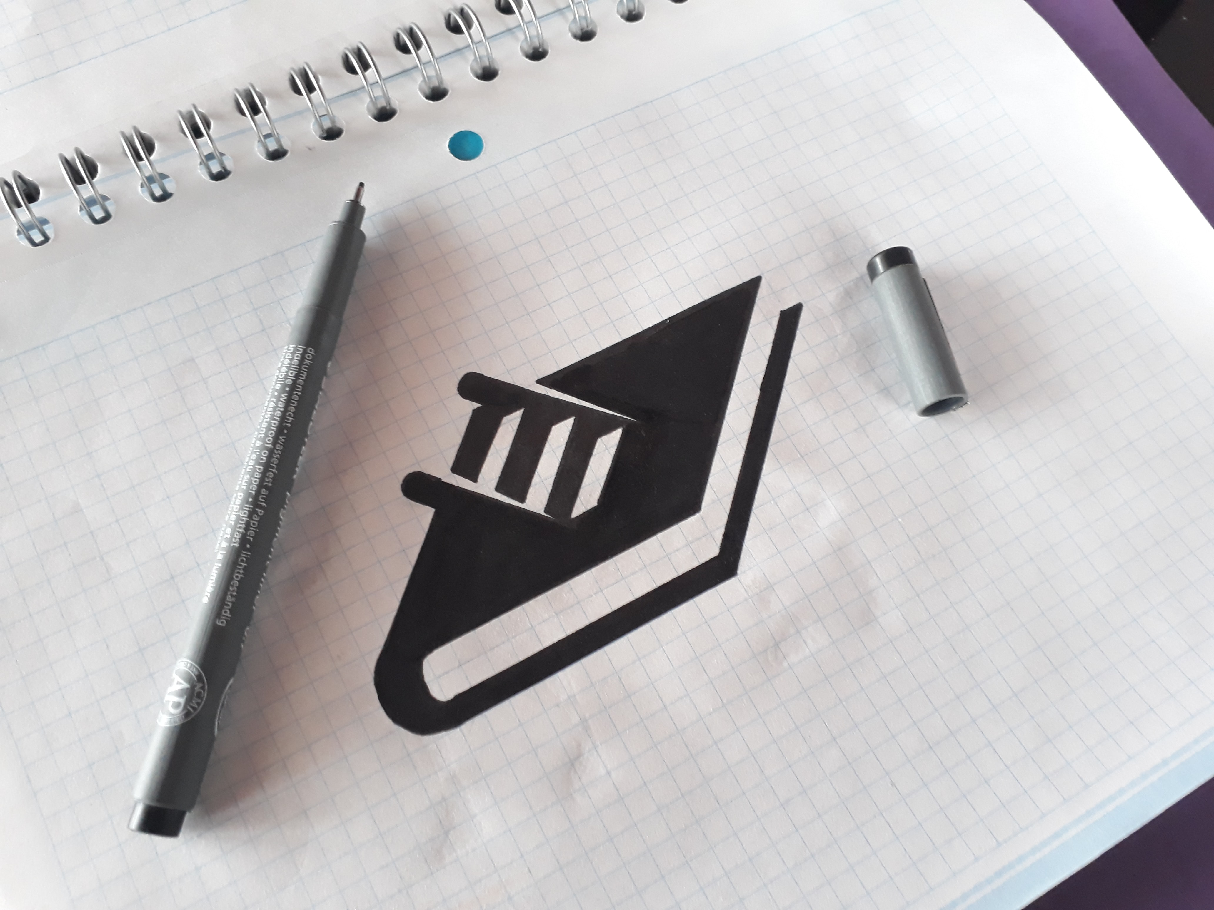 A drawing of a ladder coming from the cover of a book.