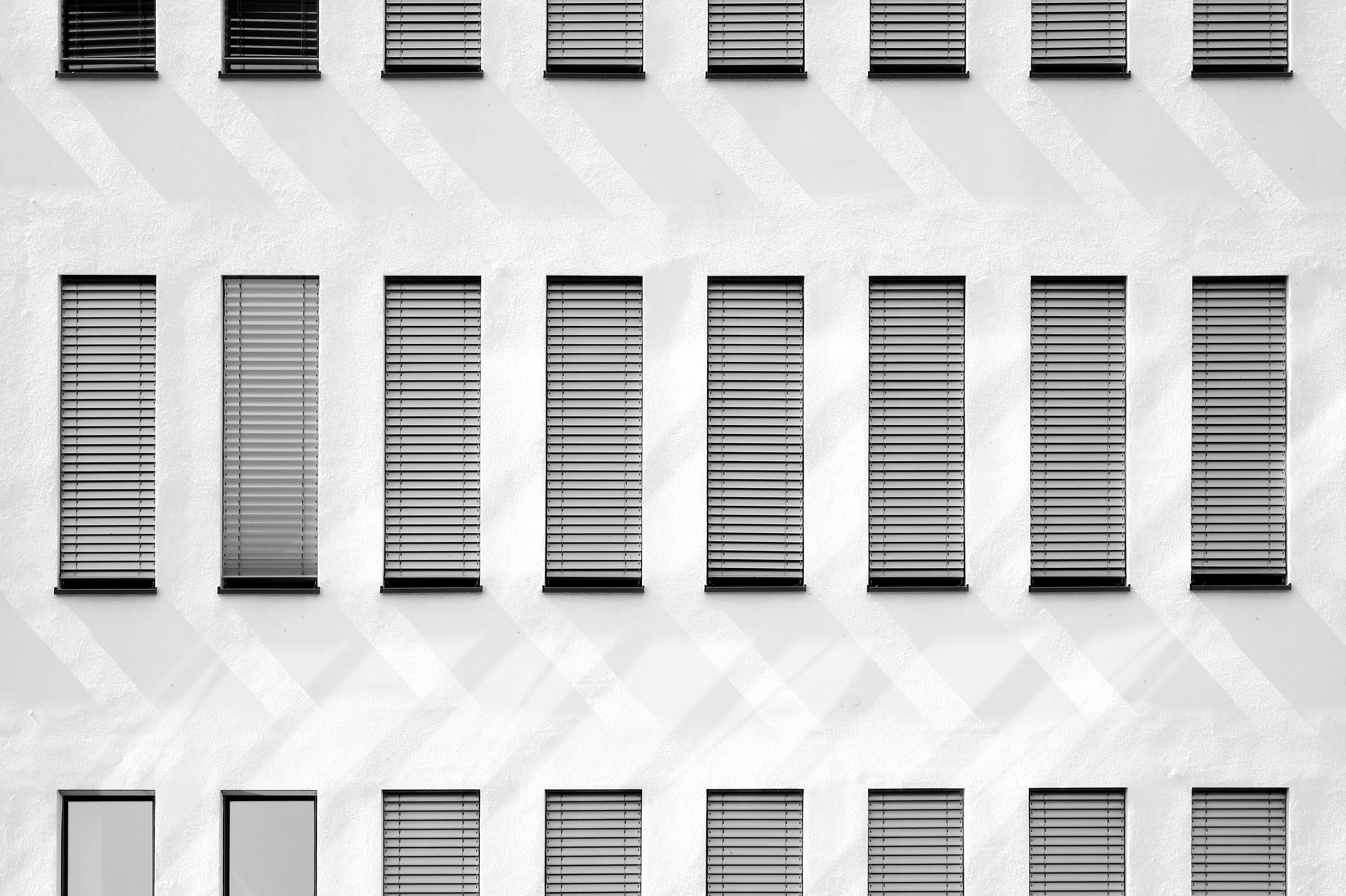architecture photography of white building