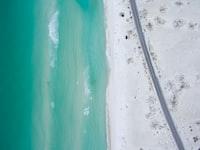 birdseye photo of sea