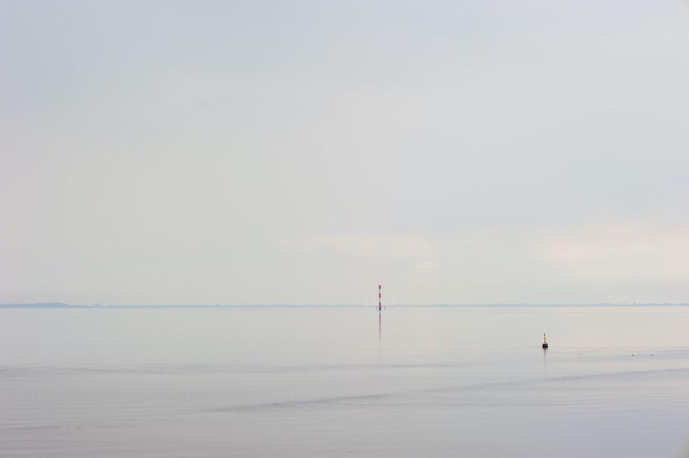 Calm and tranquil sea horizon at Butjadingen, Niedersachsen, Deutschland
