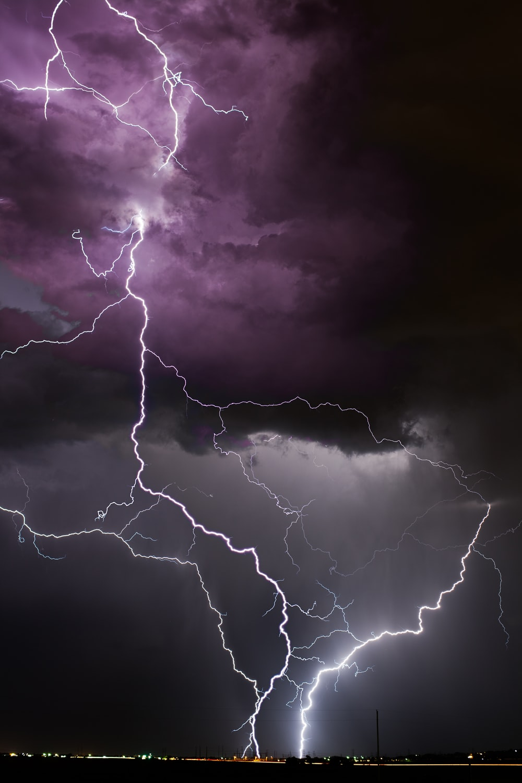 selective photography of white thunder