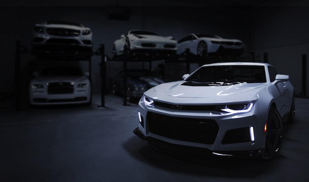 white car