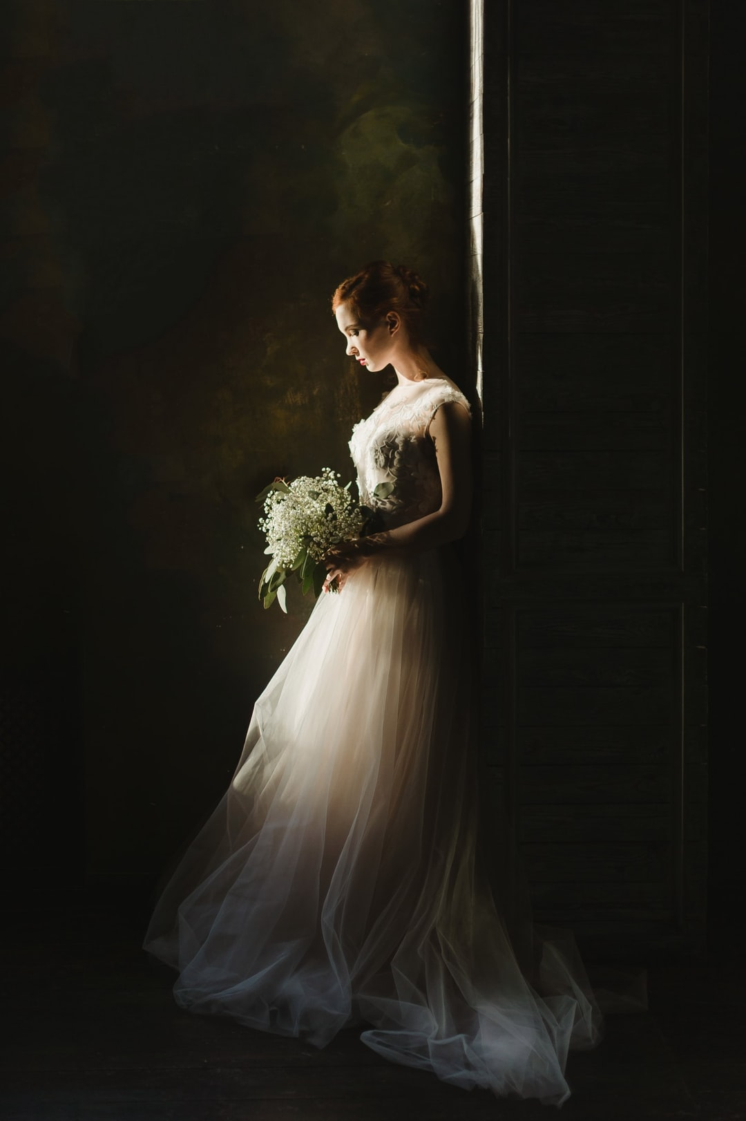 Bride surrounded by darkness