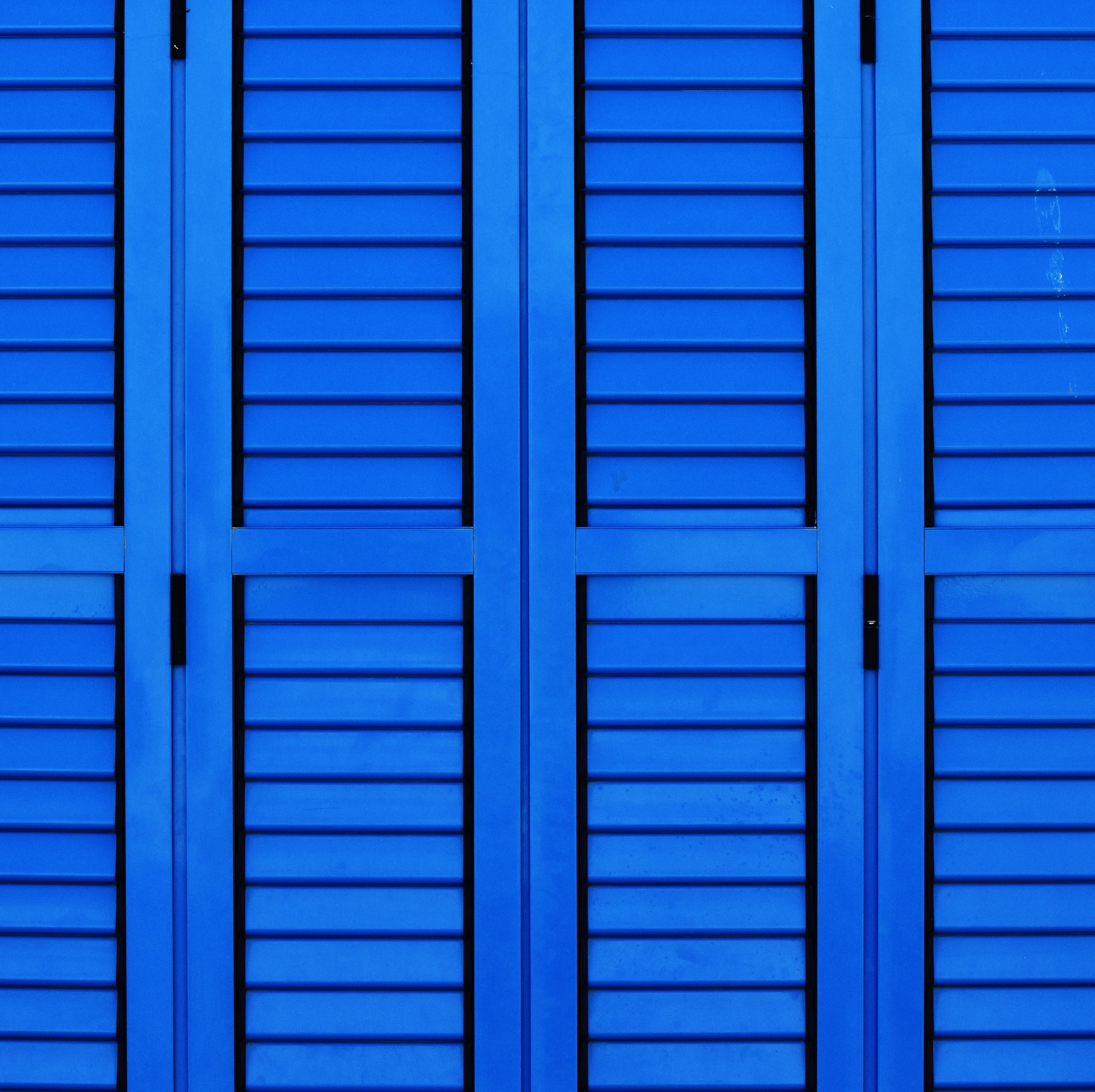 blue wooden cabinet