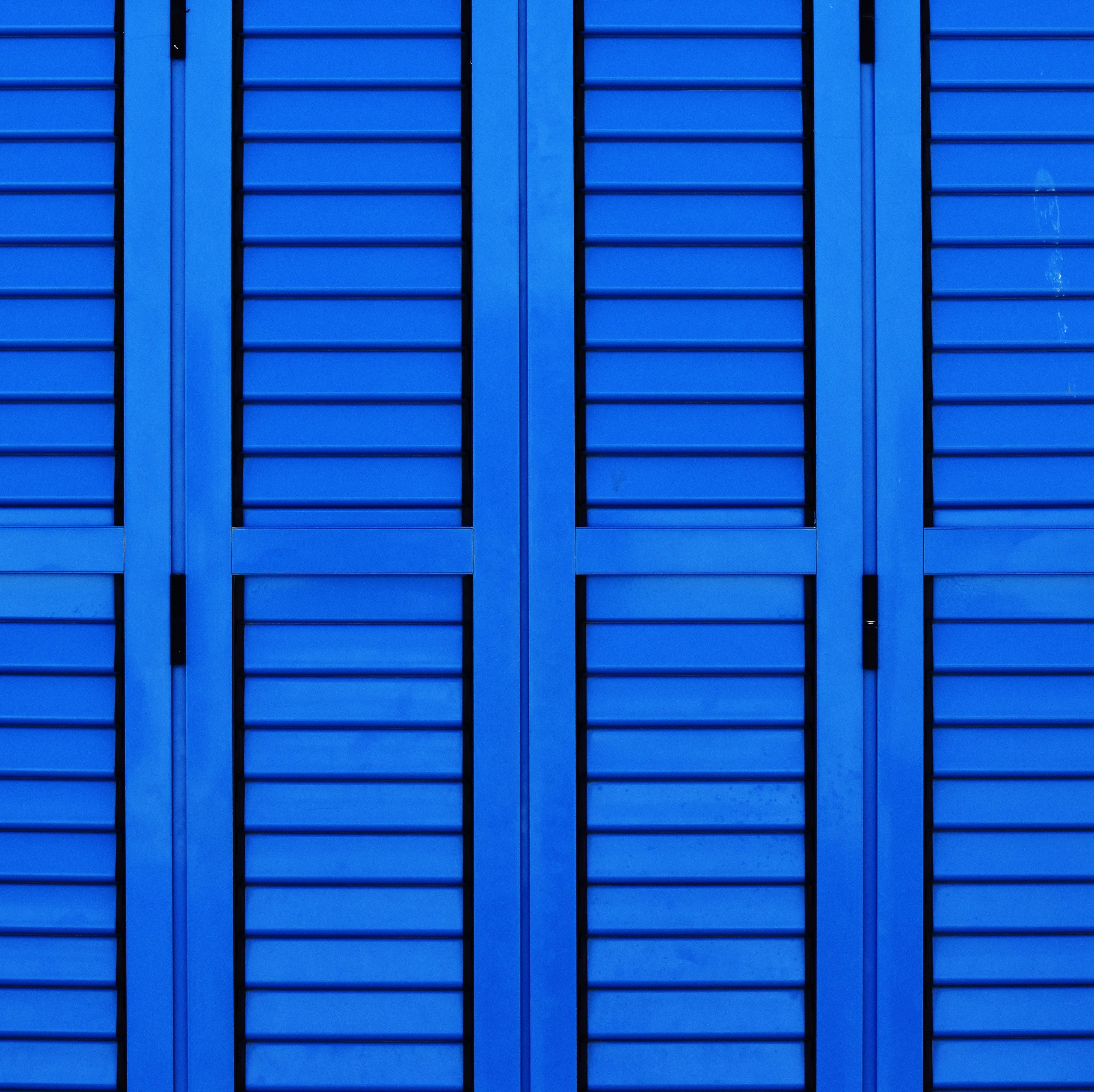 blue wooden cabinet