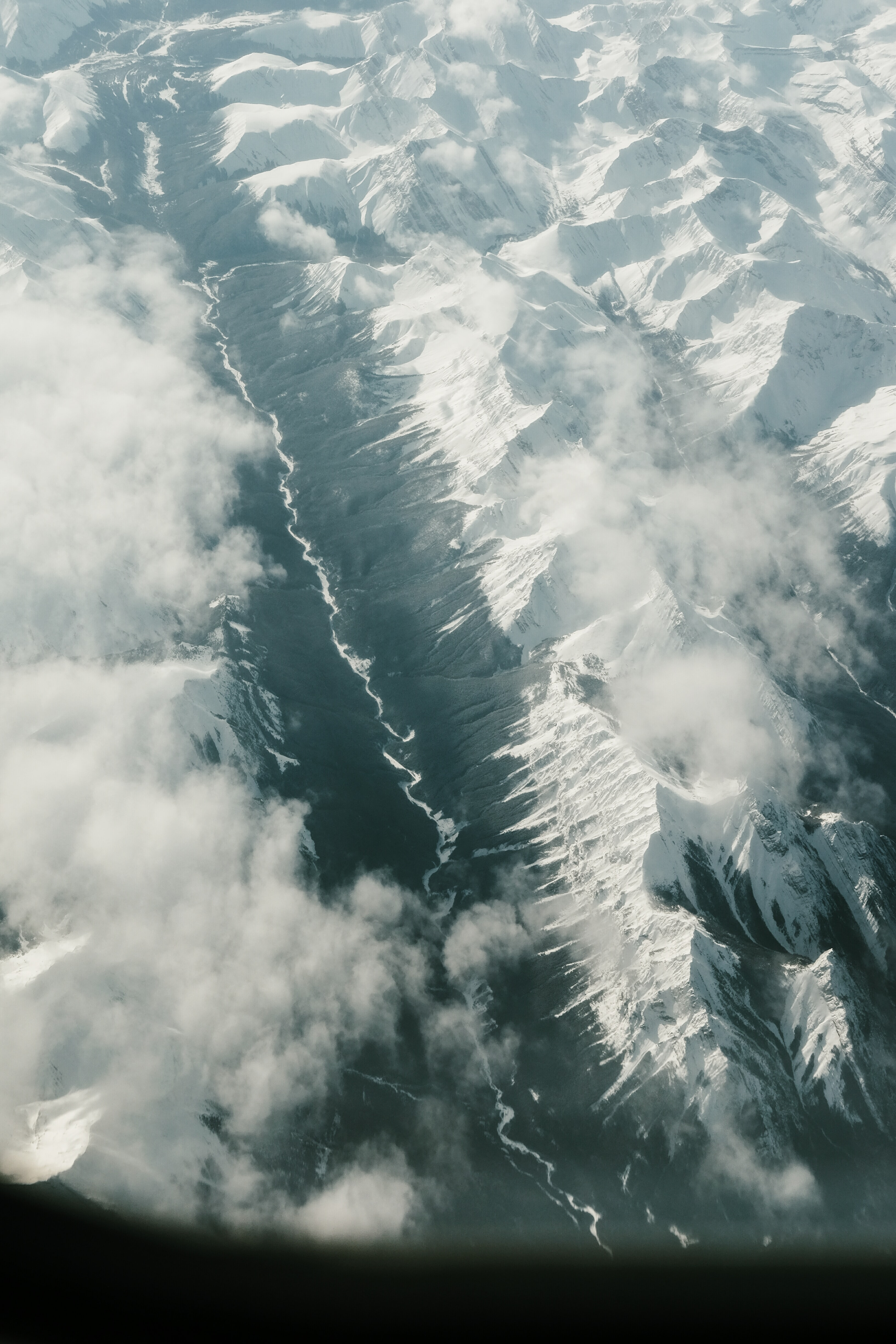 bird's eye photography of mountain with snow