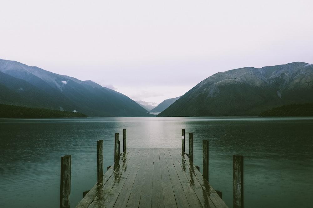 lake and dock during daytime